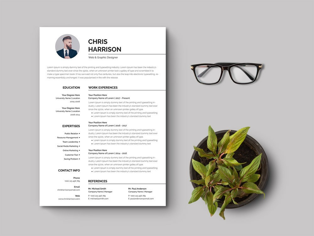 85 Top Free Ms Word Resume Templates For 2020 Dailymockup