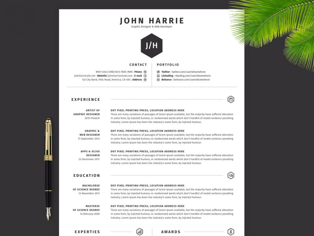 85 Top Free MS Word Resume Templates for 2020 - DailyMockup