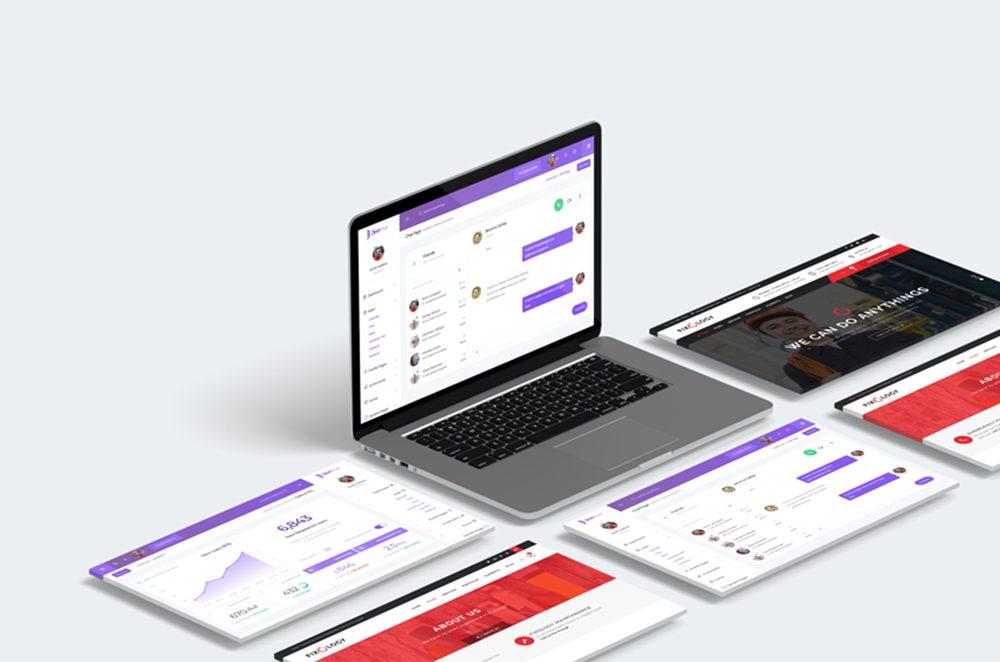 3D Web Showcase Mock-ups Free