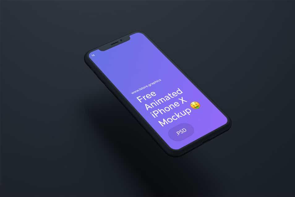 Animated IPhone X Mockup