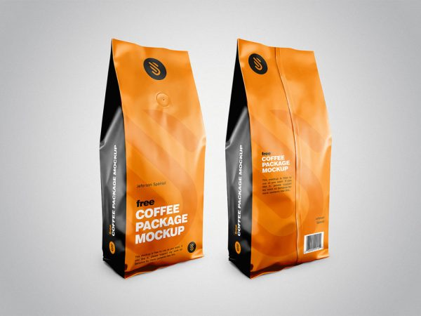 Coffee Pouch Package Mockup