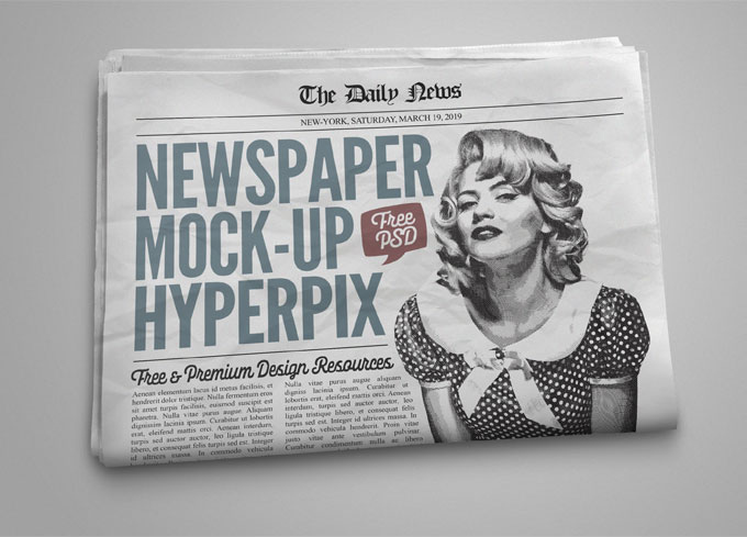 Newspaper Mockup Free