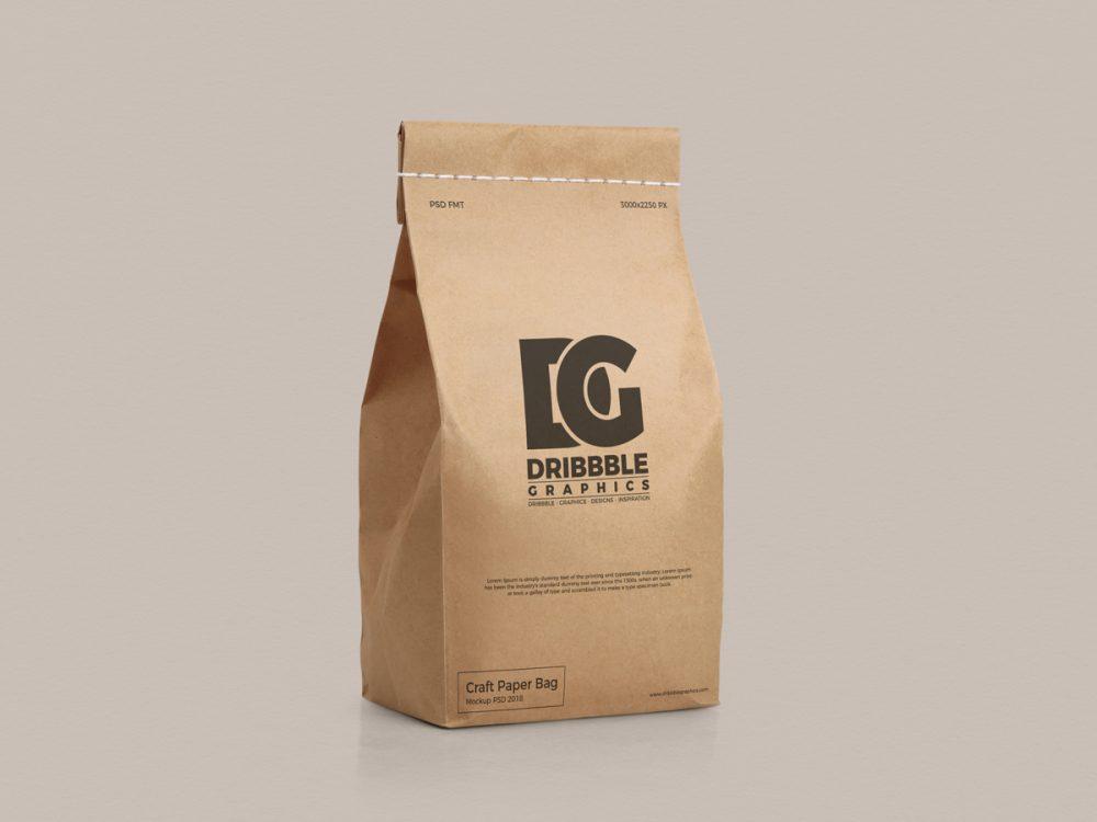paper bag mockup free