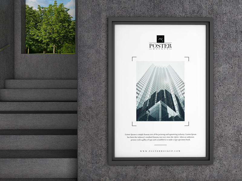 Poster Mockup Free PSD Template