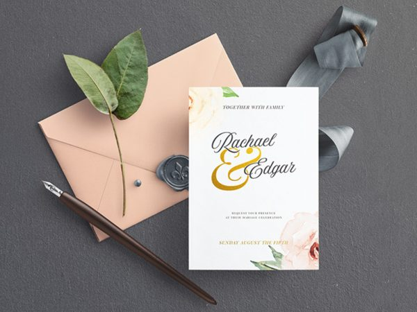 Wedding Invitation Mockup