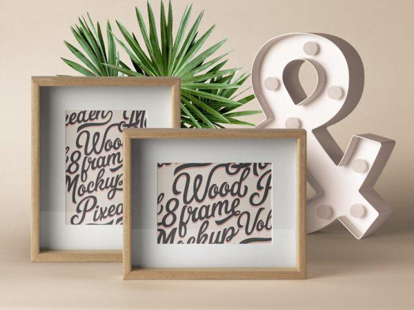 Wood Frame Mockup Free