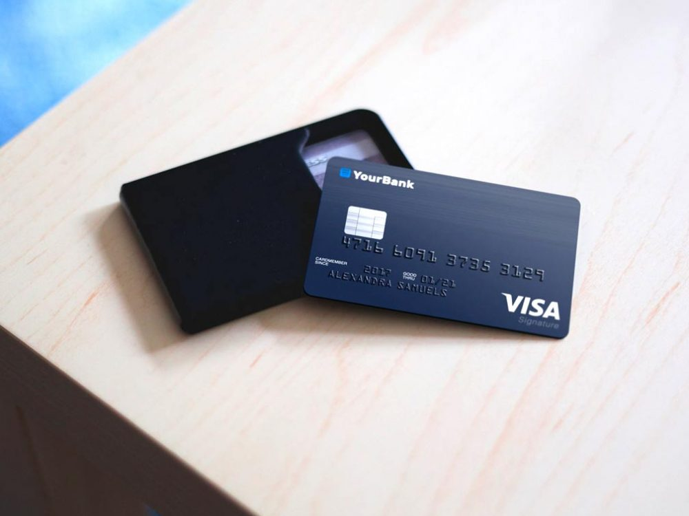 Credit Card Mockup Free