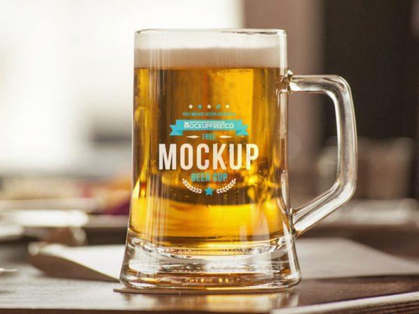 Beer Mug Mockup Free