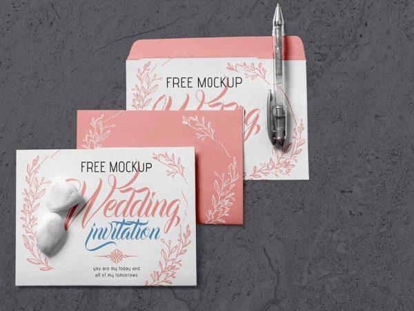 Free Invitation card mockup