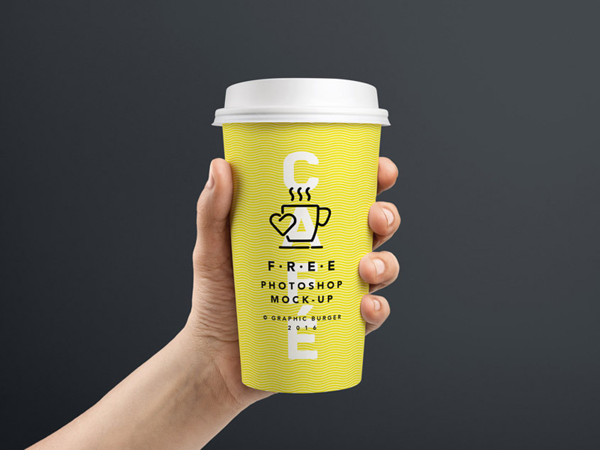 Coffee Cup MockUp Holding In Hand