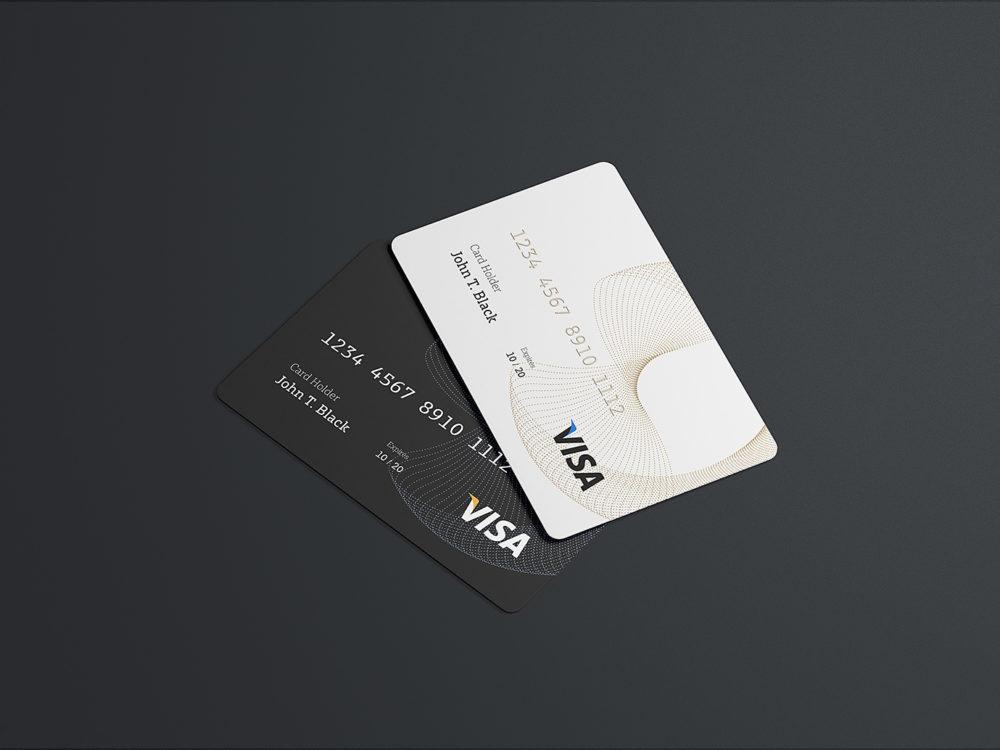 Free PSD Credit Card Mockup