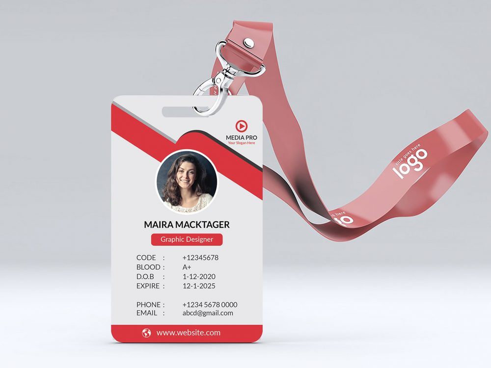 ID Card Free Mockup