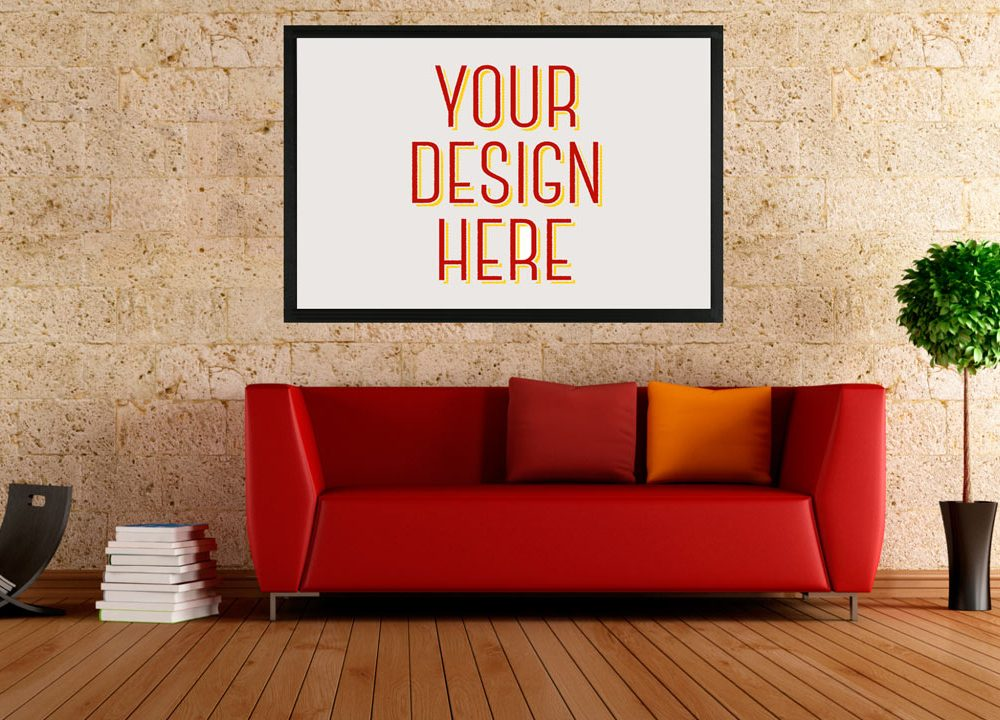 Wall Poster Free PSD Mockup