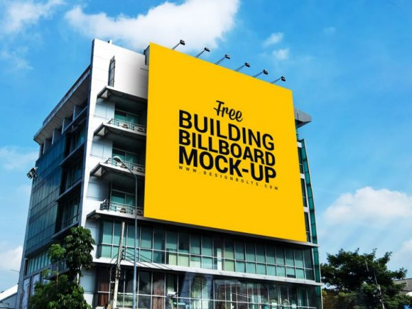 Outdoor AD Billboard Mockup