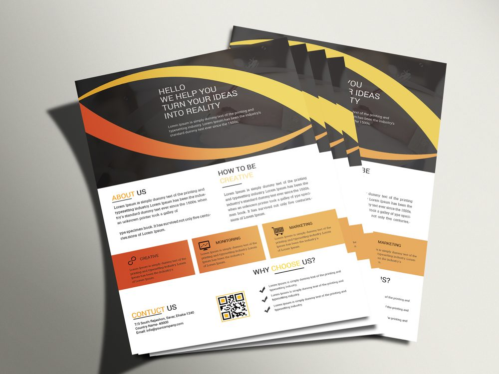 Corporate PSD Flyer Mockup