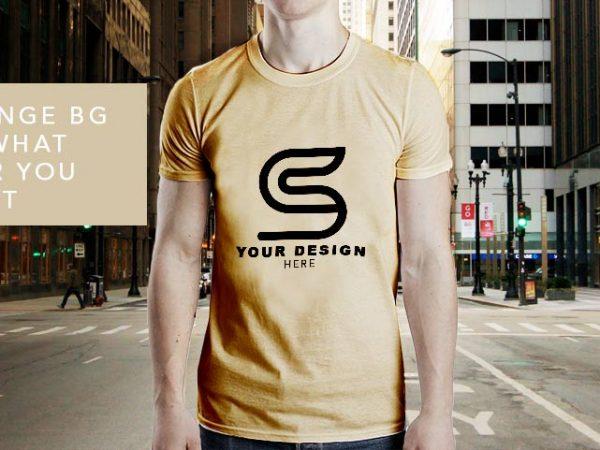 Men's T-shirt Free Mockup