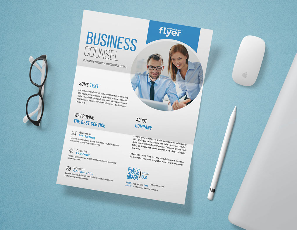 Corporate Flyer Mockup Free Psd Template A4 2020 Daily Mockup