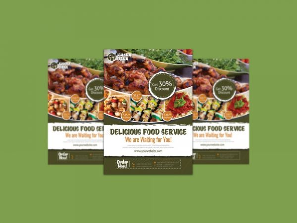 Food Ad Flyer Mockup