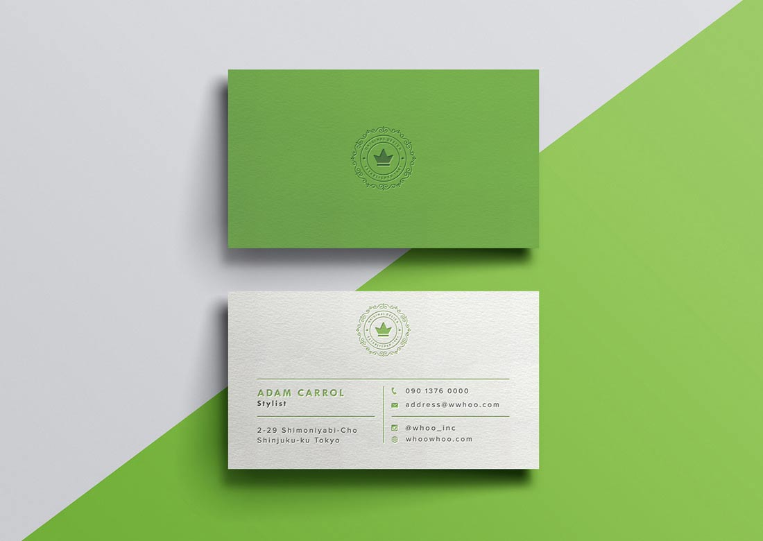 free business card mockup with paper texture 2020  daily