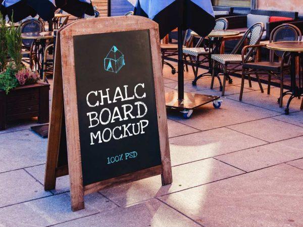 Free Chalk Board Mockup