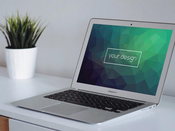MacBook Mockup on Desk