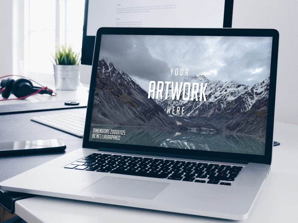 MacBook Mockup Free PSD