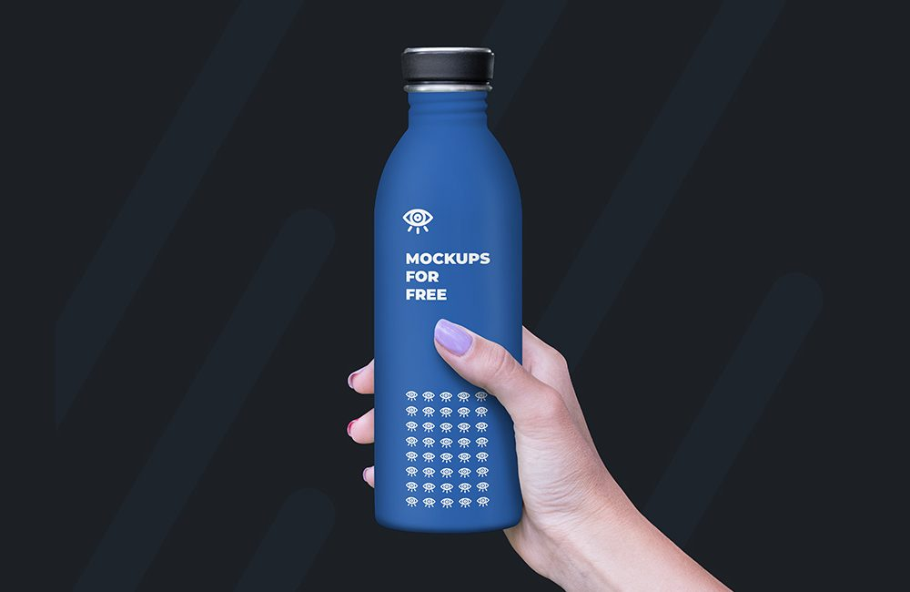 Plastic Bottle Mockup Free