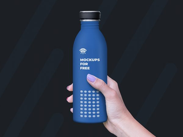 Maqueta de botella de plástico gratis