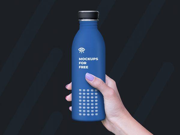 Plastic Bottle Mockup Free