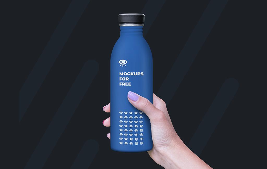 Plastic Bottle Mockup Free PSD 2020 - Daily Mockup