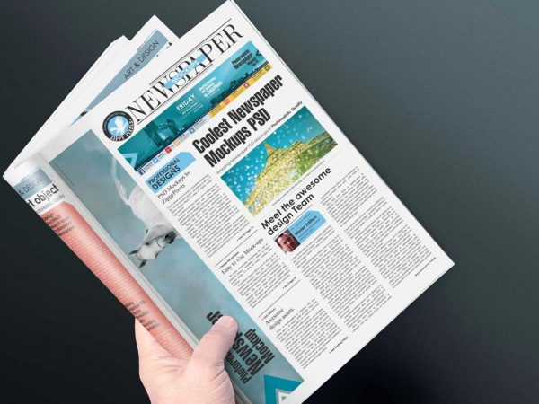 Free Newspaper PSD Mockup
