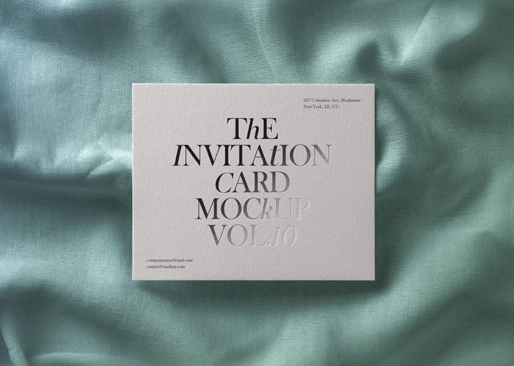 Invitation Card Free Mockup PSD