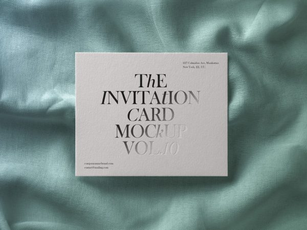 Invitation Card Free Mockup PSD