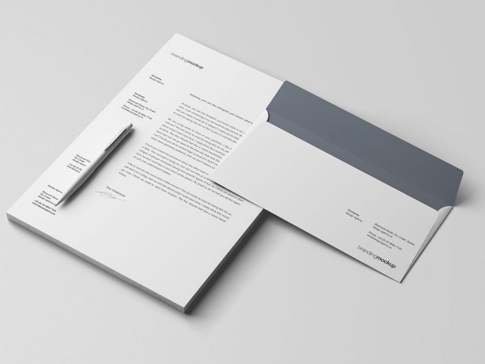 Letterhead PSD Mockup Free