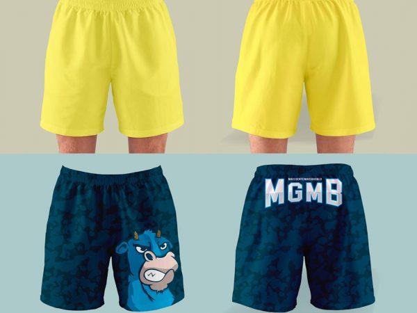 Mens Shorts Free Mockup