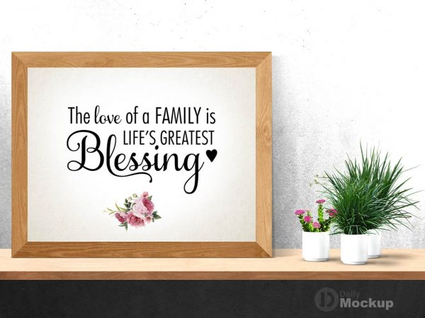 Photo Frame Mockup PSD