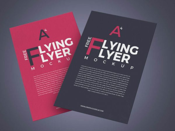 A4 Paper Flyer Mockup