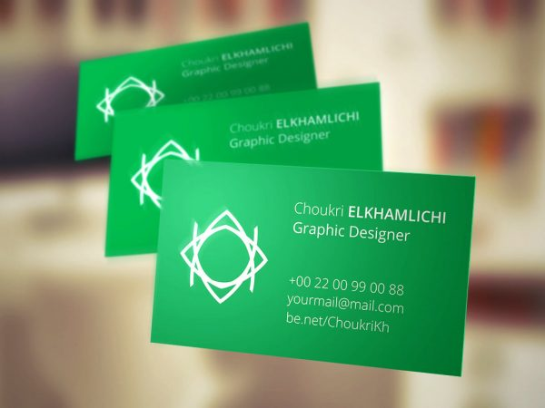 Flying Business Card Mock-up