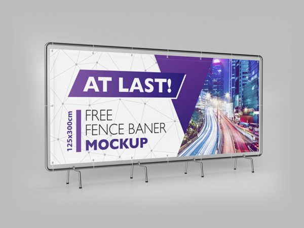 Free Advertisement Banner Mock up