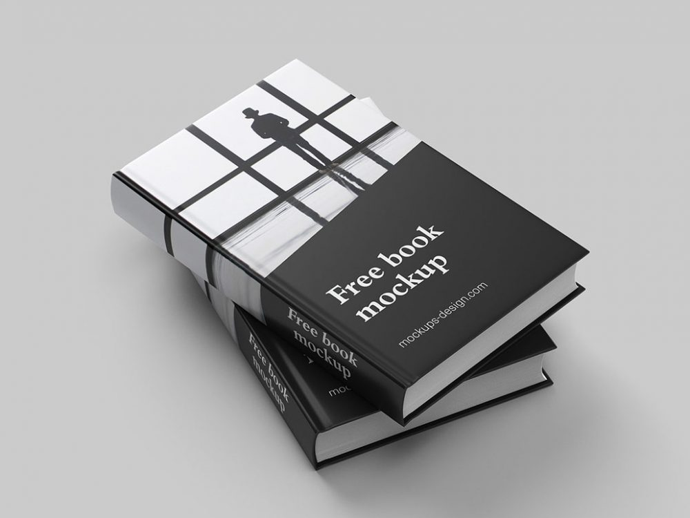Free Book PSD Mock-up