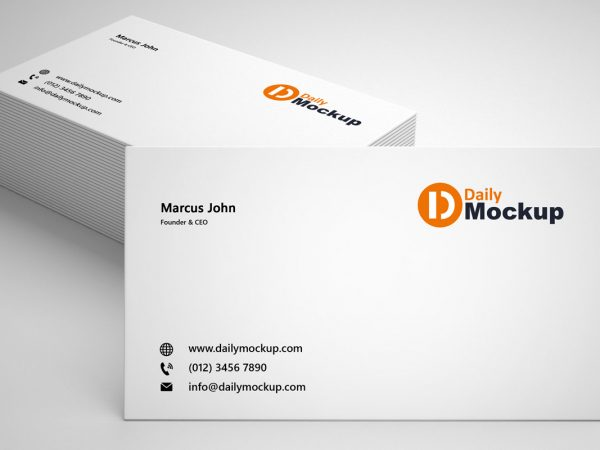 Free Business Card Photoshop Mockup