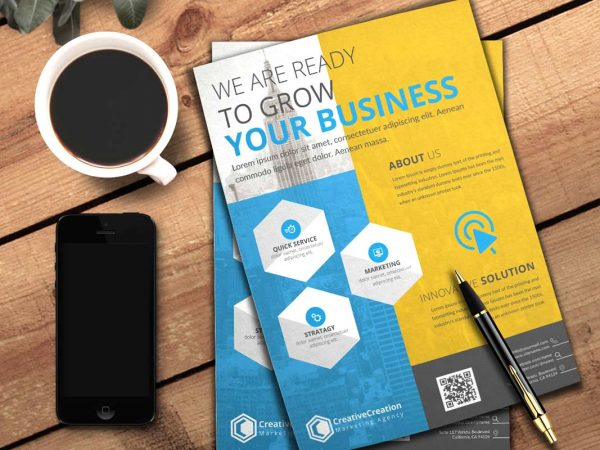 Free Business Flyer Mockup PSD
