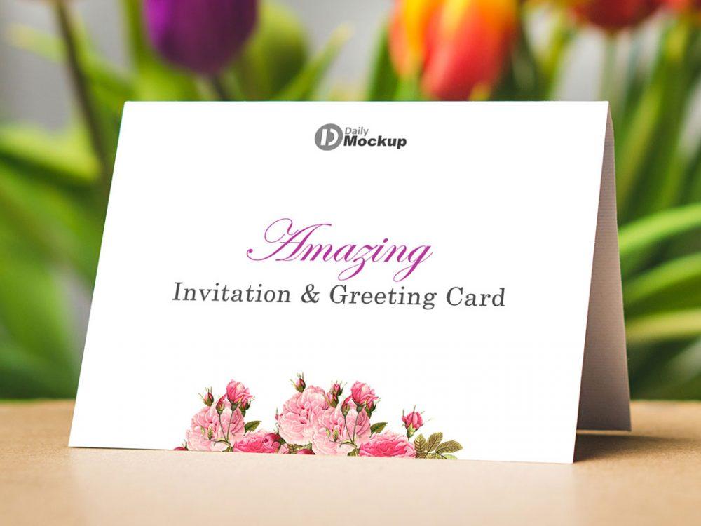 Free Invitation Greeting Card Mockup 2020 Daily Mockup