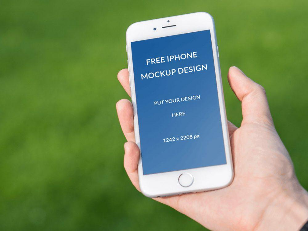 Free iPhone PSD Mockup Design