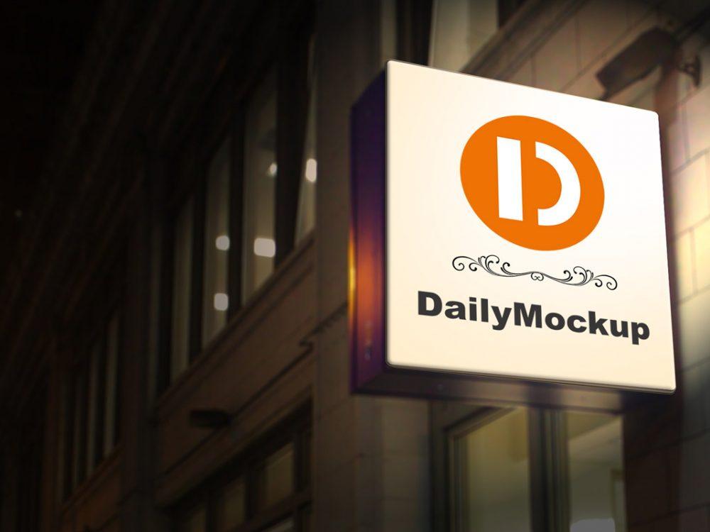 Free Signboard Mock Up Psd 2020 Daily Mockup