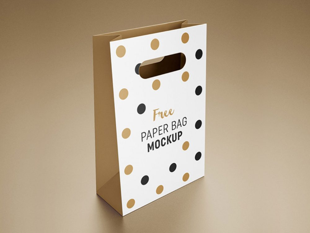 free paper bag mock-up