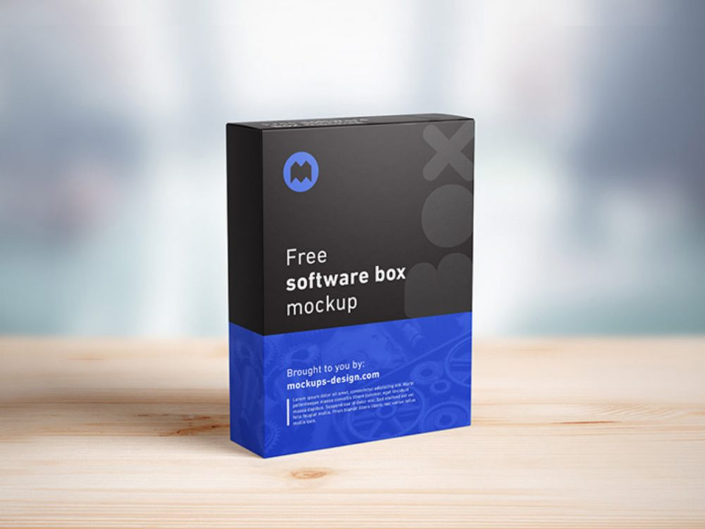 Free Software Packaging Mockup