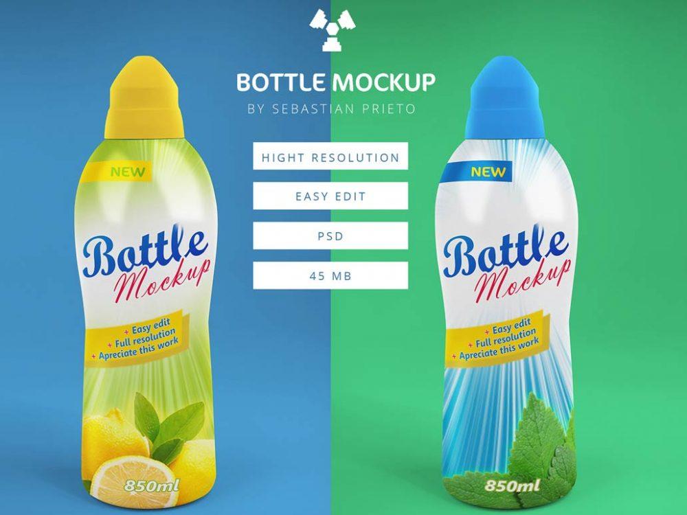 Fruit Juice Bottle Mock-up