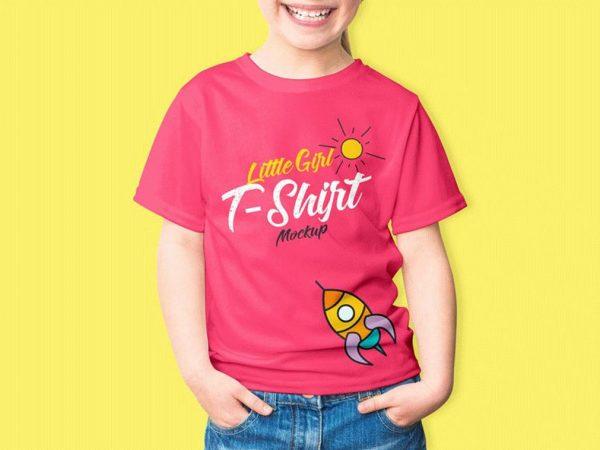 Baby Girl T-Shirt Free Mockup