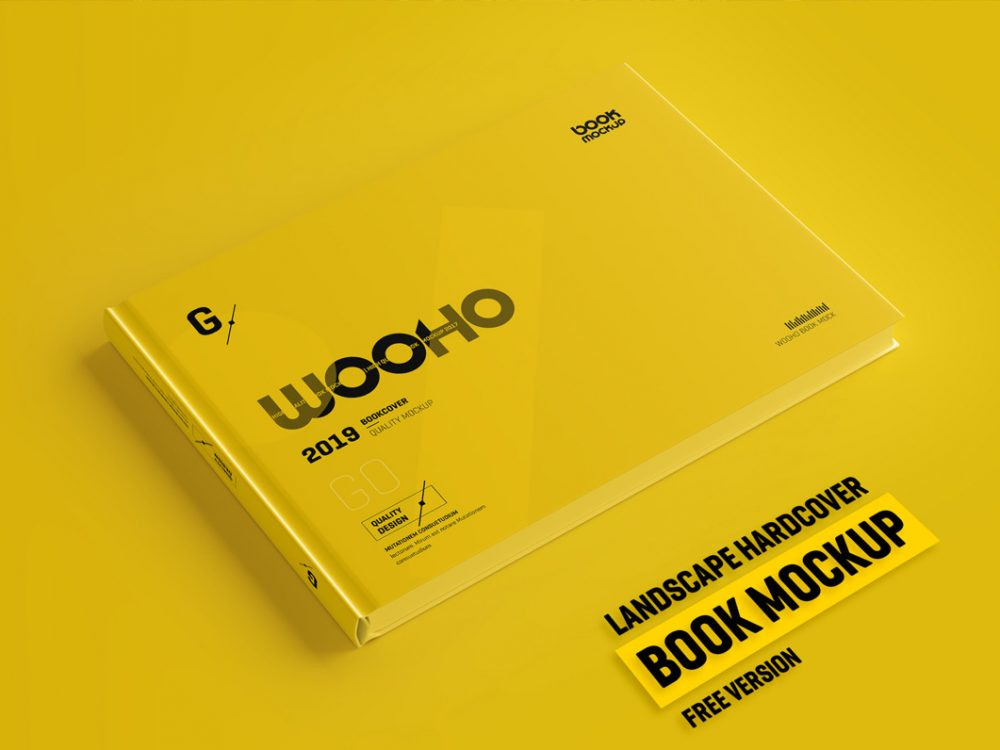 Free Hardcover Book PSD Mockup